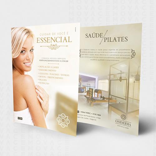 Flyer, folder, panfleto, catálogo, material impresso publicitário